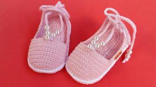 Aprenda a Fazer Sandália de Crochê Para Bebe