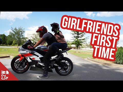 Girlfriends First Time On Motorcycle