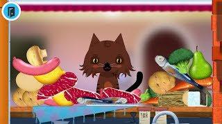 permainan kucing pemakan segalanya - Toca kitchen - kucing rakus makan
