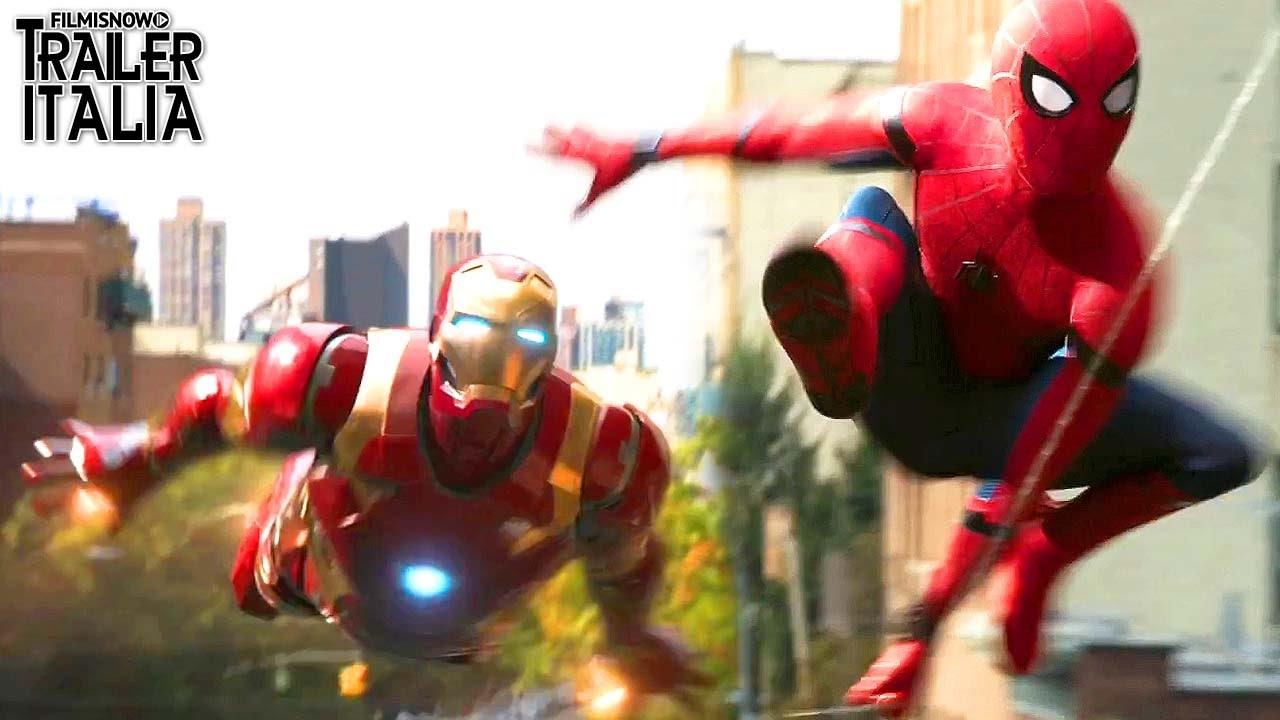 Spider man homecoming l uomo ragno e iron in azione