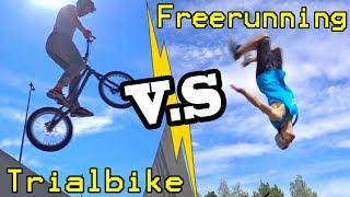 Freerunning VS. Trial Bike in Berlin