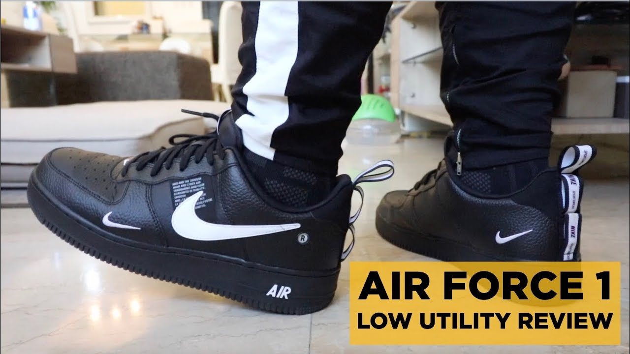 58048a357d126 NIKE AIR FORCE 1 LOW BLACK UTILITY REVIEW & RASTACLAT OFF-WHITE UNBOXING