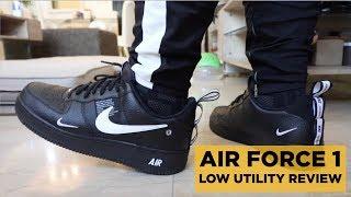 NIKE AIR FORCE 1 LOW BLACK UTILITY