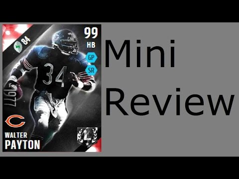 Final M16 Review Ultimate Legend Walter Payton | Mini-Review | Madden 16 Ultimate Team Gameplay