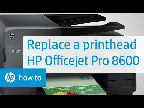 Replacing the Printhead - HP Officejet Pro 8600 e-All-in-One Printer