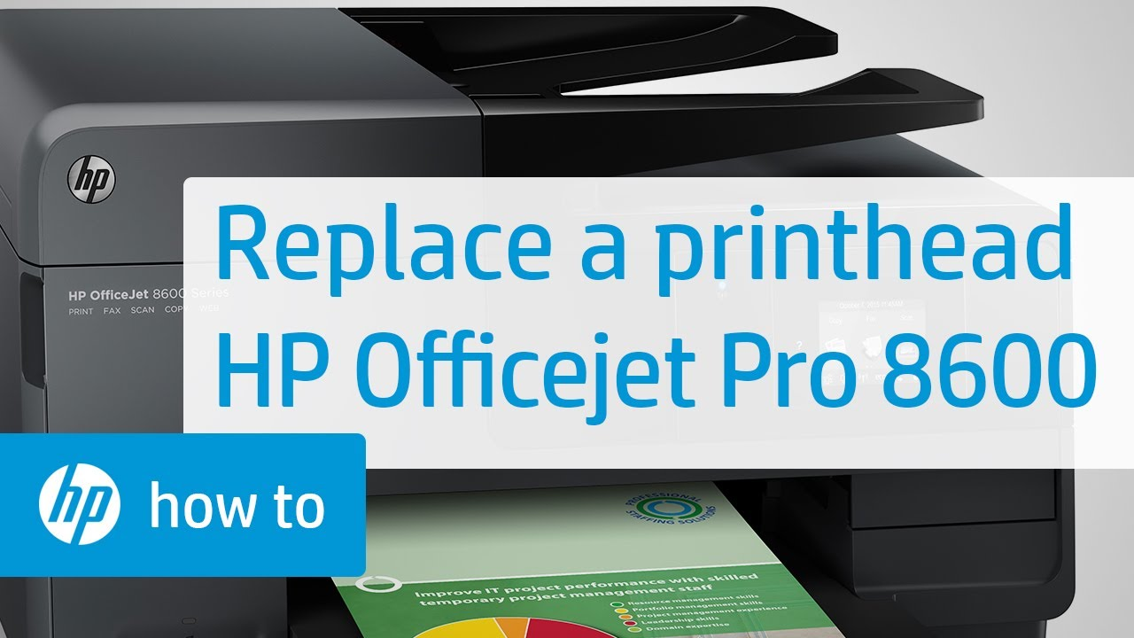 Replacing The Printhead Hp Officejet Pro 8600 E All In