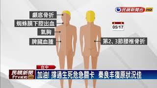 蔡總統探秦良丰 病禢旁振臂打氣-民視新聞