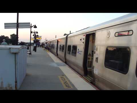 MTA LIRR: 2002-07 Bombardier M-7 LIRR Train at St.Albans (3/6)