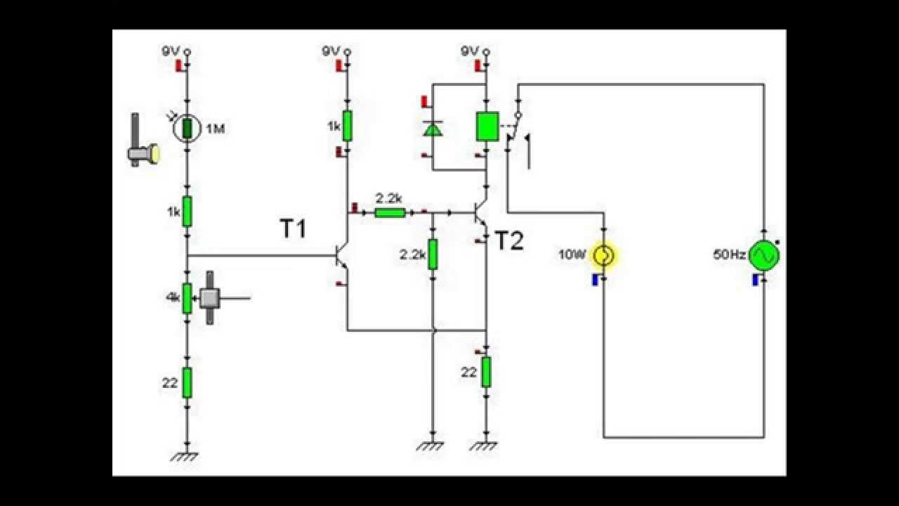 esquema circuito sensor de luz
