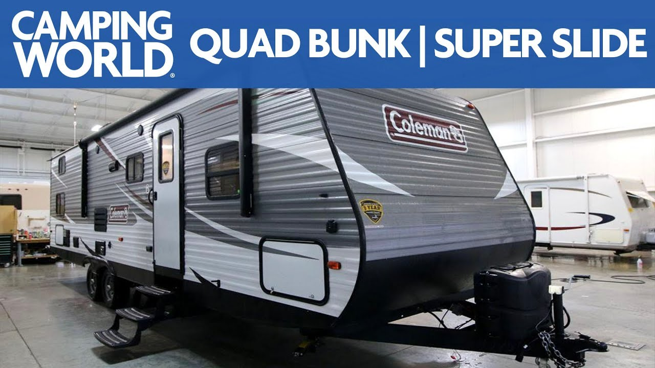 Coleman Travel Trailers >> 2018 Coleman Lantern 295qbs Bunkhouse Travel Trailer Rv Review