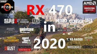 RX 470 Test in 20 Games in 2020