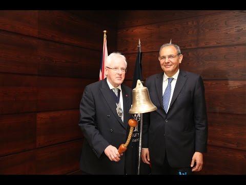 Le Lord Maire de la City ouvre la séance à la Bourse de Casablanca