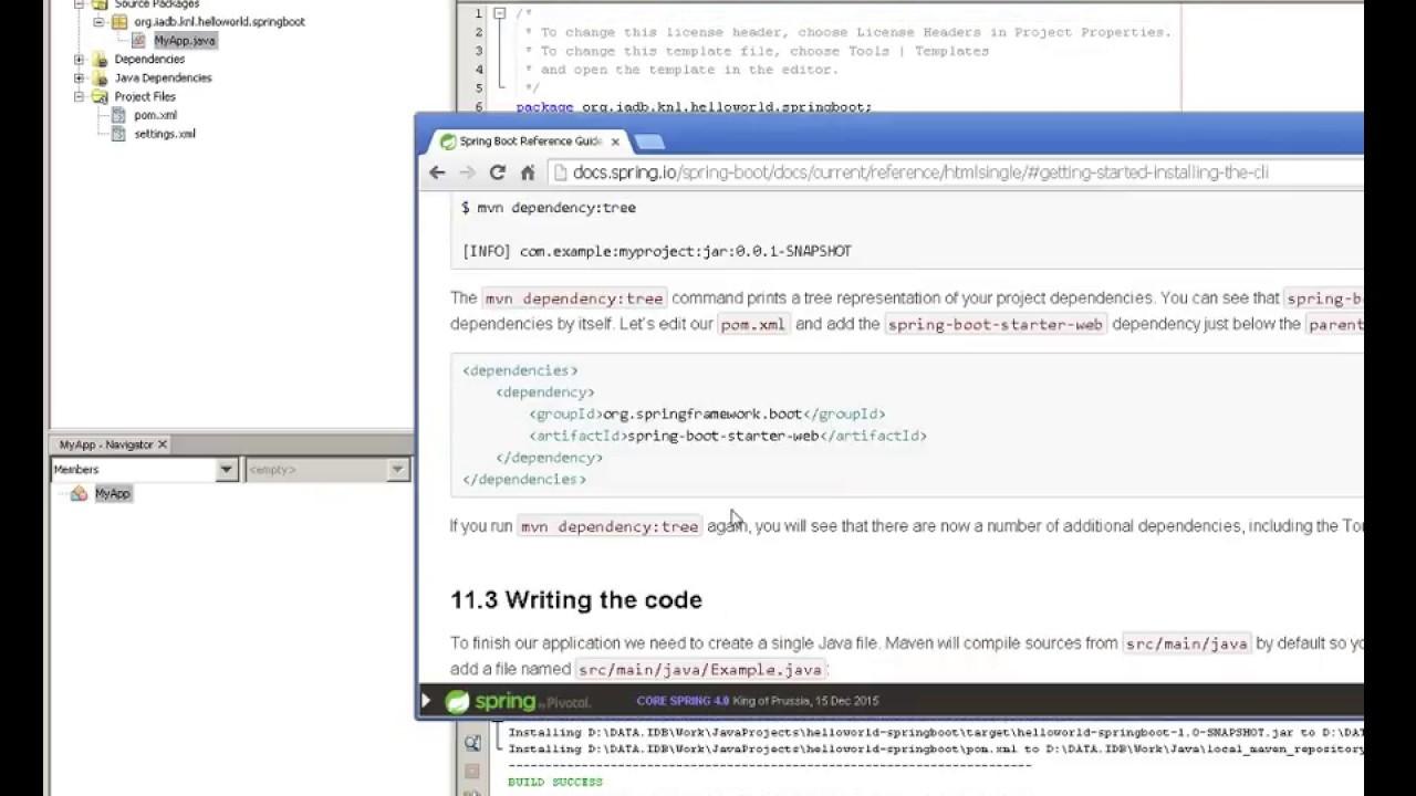 Hello Work Springboot from Netbeans using Maven
