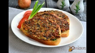 Горячие бутерброды с картофелем и грибами