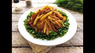 Салат Муравейник с картошкой фри Очень вкусные рецепты с фото