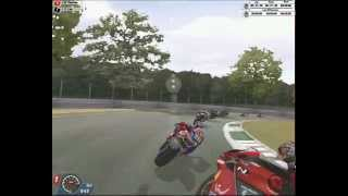 "More action from Brands Hatch on SBK 2001 - to illustrate the ""live"" commentary in the game.."