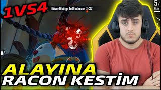 ALAYINA MERMİ ! 1VS4  -  FREE FİRE