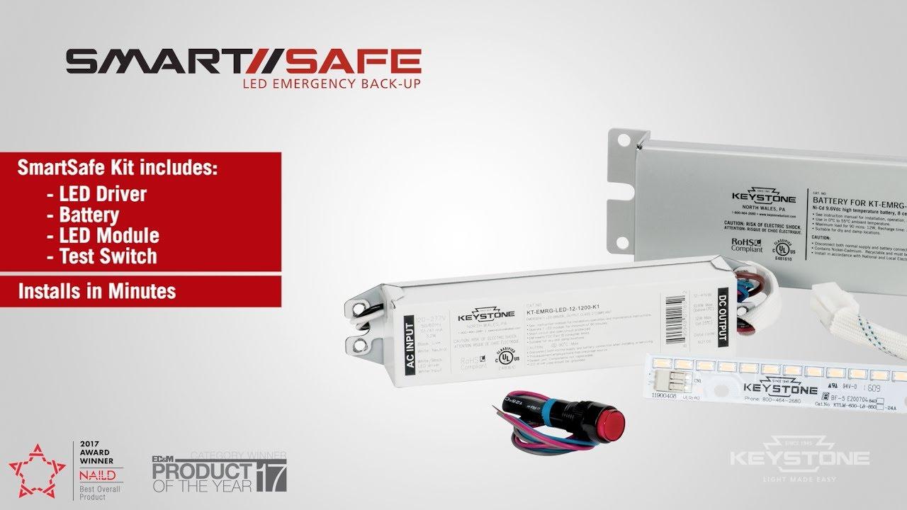 SmartSafe - LED Emergency Back-up Installation. Keystone Technologies  sc 1 st  YouTube & SmartSafe - LED Emergency Back-up Installation - YouTube azcodes.com