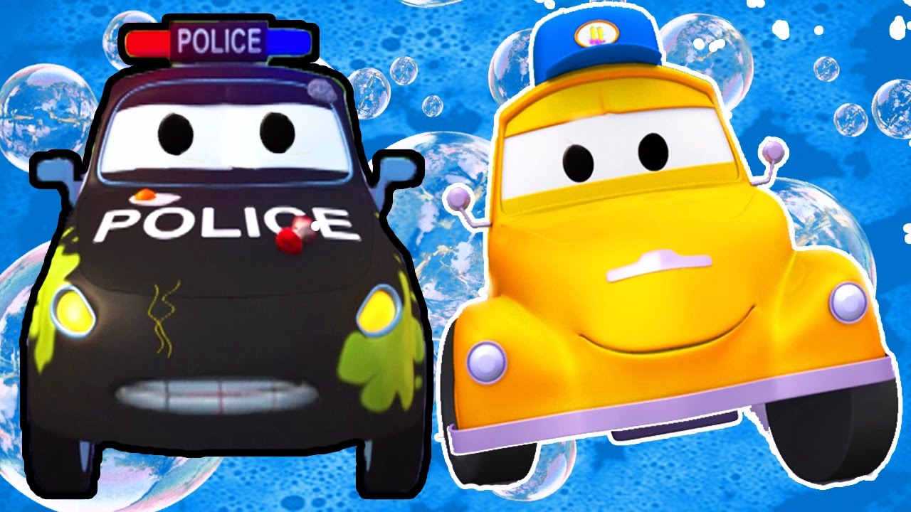 Tom The Tow Truck S Car Wash And Matt The Police Car