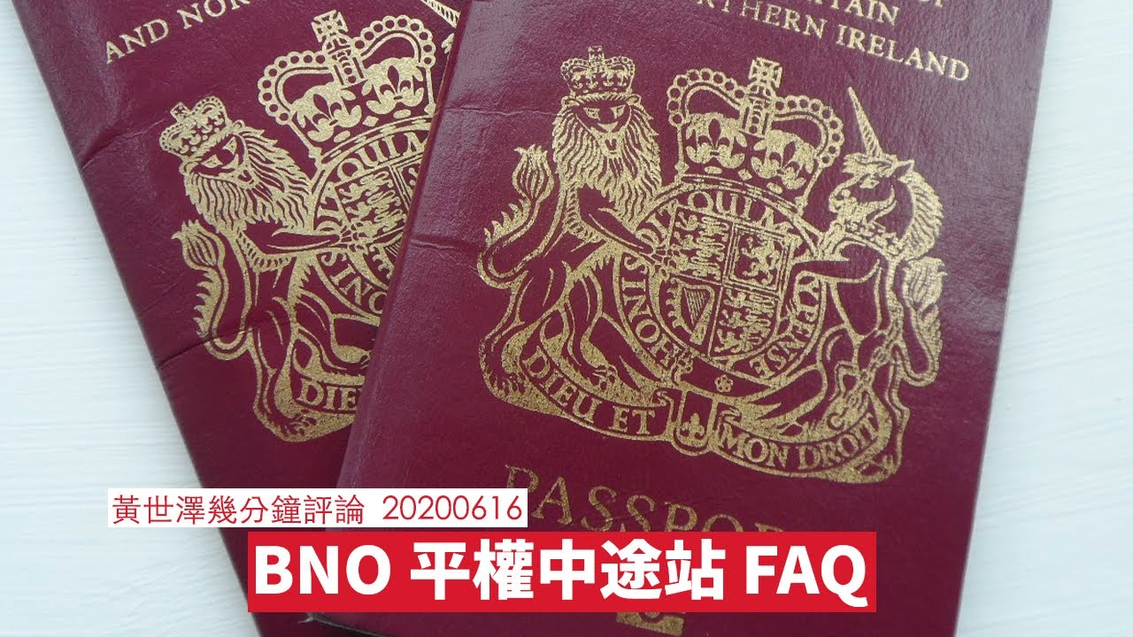 BNO 平權 中途站 FAQ :黃世澤幾分鐘 #評論 20200616 - YouTube
