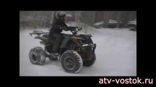Avenger Evo125 Winter(На кавдроцикле установлен тяговитый мотор объемом 125 куб. с трансмиссией полуавтомат (автоматическое сцепл..., 2015-12-22T06:52:28.000Z)