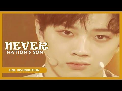 [LINE DISTRIBUTION] NATION'S SON (Produce 101 SS2) - Never