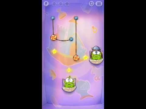 Cut The Rope Time Travel Level 1-3 Walkthrough | The Middle Ages Level 1-3 Walkthrough