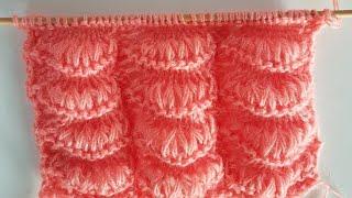 Mandalina Dilimli Örgü / How to Knit Mandarin Stitch