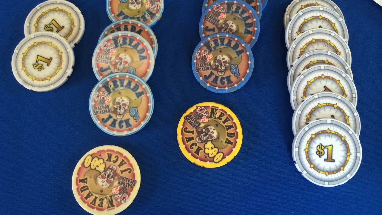 Nevada Jacks Clay Poker Chips