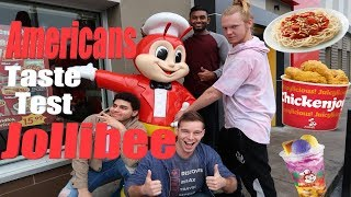 AMERICANS TASTE TEST JOLLIBEE :: FILIPINO FAST FOOD