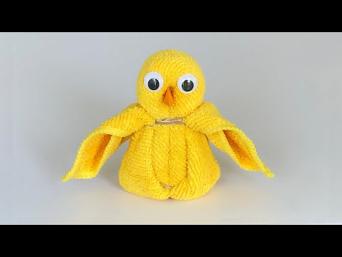 Towel Chicken / DIY Easter Decoration 🐣