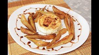 Жареный Камамбер с грушами и корицей. Вкусный десерт.