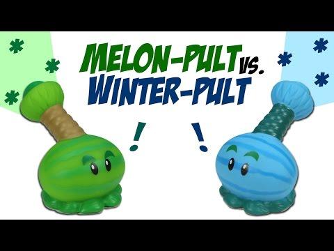 Plants vs. Zombies Melon-Pult VS. Winter Melon-Pult Ball Popper Battle