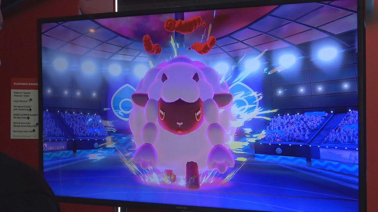 Giant Wooloo Pokemon Sword And Shield Water Gym Leader Battle