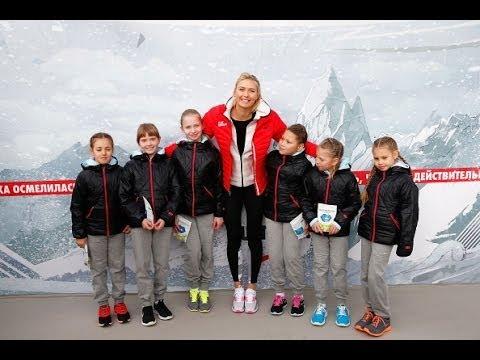 Maria Sharapova Reopens Childhood Tennis Court in Sochi