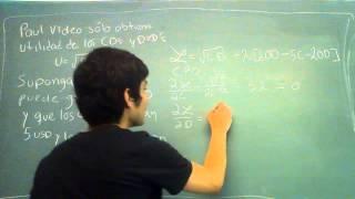 LECVIDS | Microeconomía intermedia: Función Convexa (Cobb-Douglas)
