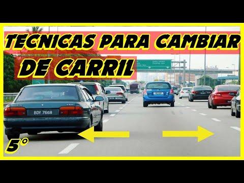 CAMBIO DE CARRIL/tecnicas