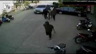 One Man With a Gun Stops 13 Armed Robbers