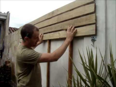 Como fazer um deck de madeira em paredes youtube - Revestir pared exterior ...