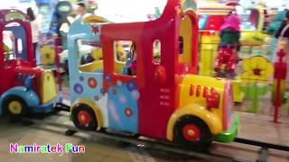 Naik Kereta Api Anak Mini Tut Tut Tut di Taman bermain mainan anak anak indoor playground di mall