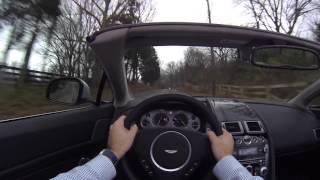 2015 Aston Martin V8 Vantage Roadster POV Test Drive