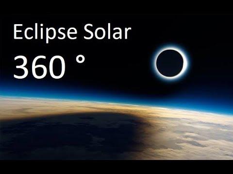 Eclipse Solar visto do Espaço – Vídeo 360 °