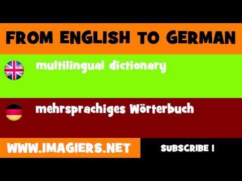 DEUTSCH   ENGLISCH  = mehrsprachiges Wörterbuch