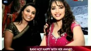 Rani not Happy with her Award....