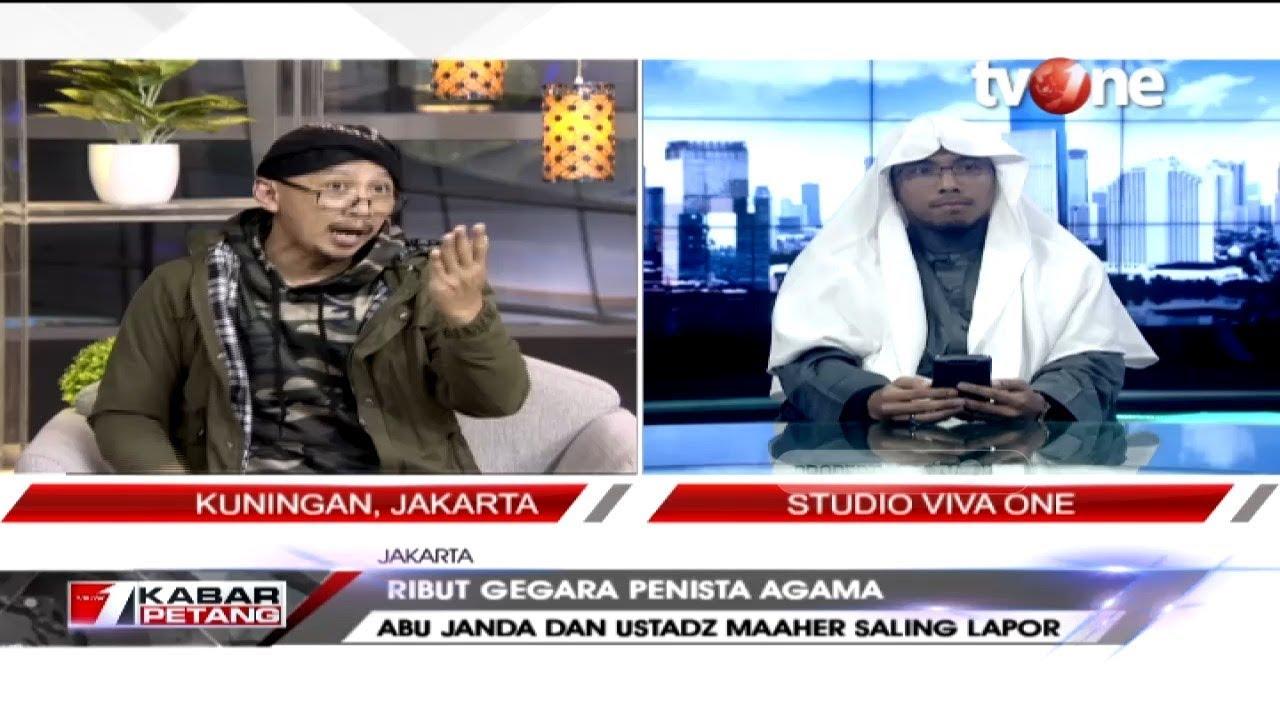 Debat Abu Janda Dan Ustadz Maaher At Thuwailibi Terkait Saling Lapor Ke Bareskrim Polri Youtube