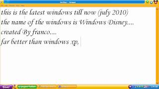 Newest latest Windows 2010 (Windows Disney)