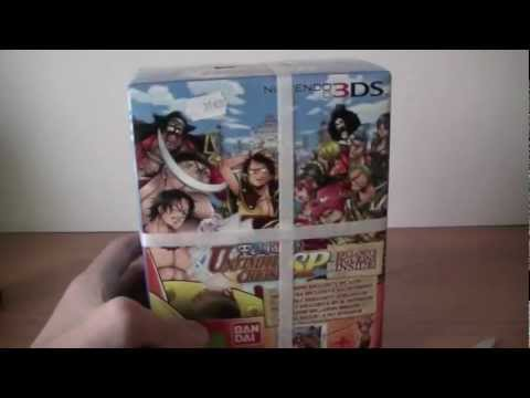 Unboxing-Déballage One Piece: Unlimited Cruise SP Edition Collector-limitée sur Nintendo 3DS