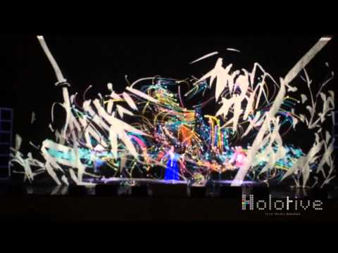 Hologram show in Busan Bank Event 2014