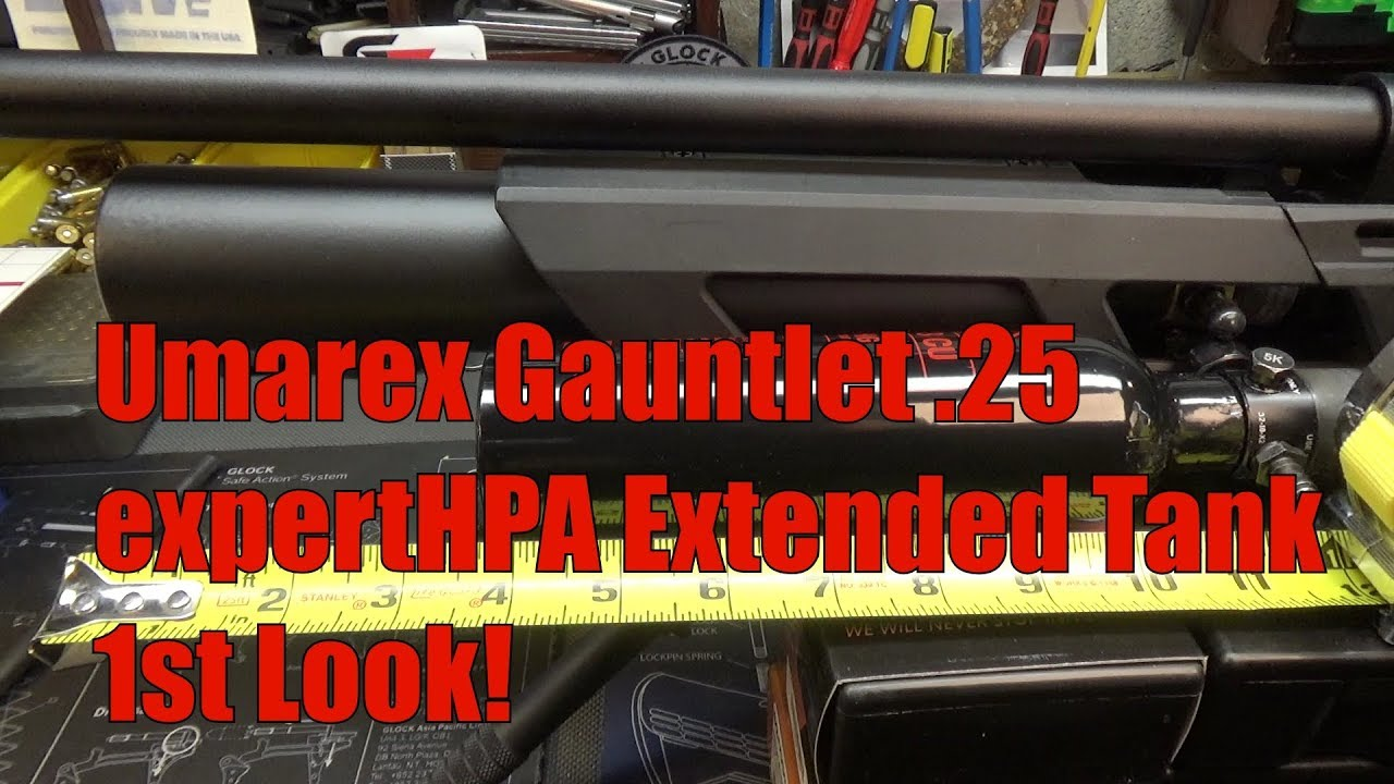 Umarex Gauntlet  .25 Pellet Rifle ExpertHPA Extended Tank 1st Test