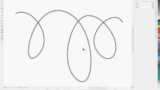 Урок Corel Draw создание Кривой Безье